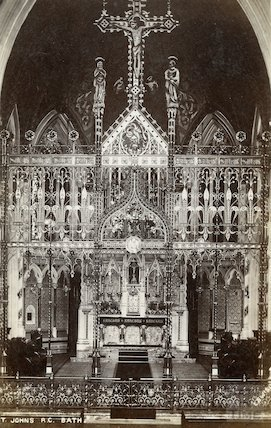 The Altar of St. John the Evangelist R.C. Church. Posted 31 July 1906