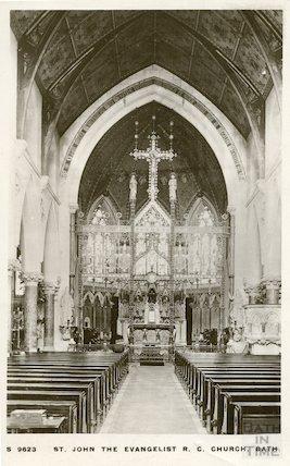 Interior of St. John's Roman Catholic Church, looking East. c.1912