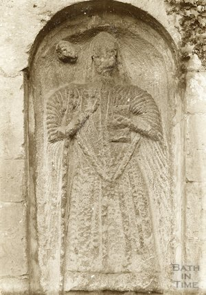 St. Nicholas Church, Bathampton, Somerset: Effigy of Bishop c.1920s