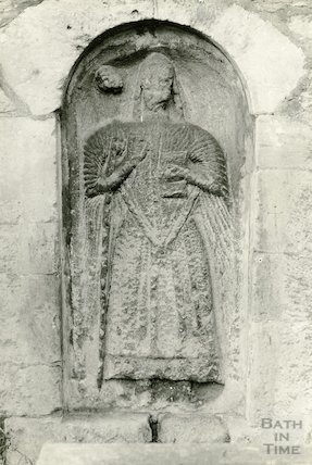 Photograph of Effigy of Bishop at St. Nicholas' Church, Bathampton