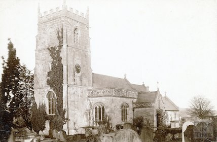 Bathampton Church. View from the West after additions. c.1890