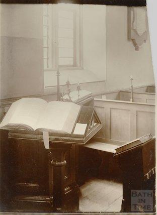 Interior of Woolley Church pre 1903