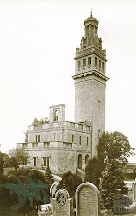 Lansdown Cemetery. South East view showing Beckford's Tower c.1920
