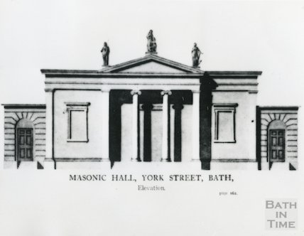 Front elevation view of Masonic Hall, York Street