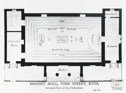 Masonic Hall, York Street. (ground floor plan at the Dedication)