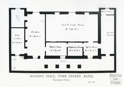 Masonic Hall, York Street (basement floor plan)