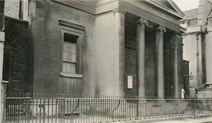 Friends' Meeting House. View of front, York Street c.1920