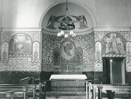 Interior of House of Help, Walcot St. Chapel (including altar) c.1960s