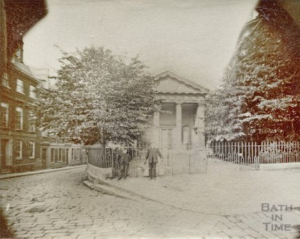 St Mary's Chapel, Queen Square, Bath (view of portico) c.1870