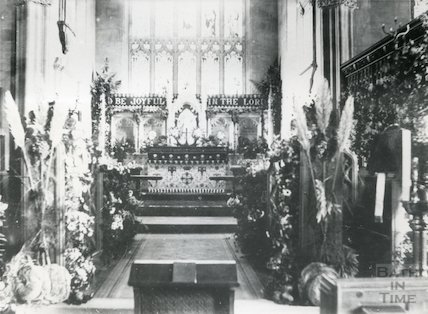 Interior of All Saints Church, Weston, Bath pre 1901