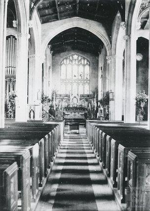 Interior of All Saints Church, Weston, Bath pre 1901