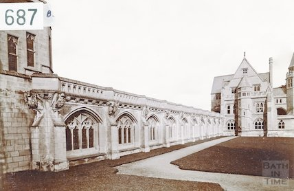 St. Peter's Cloister, Downside Abbey (built 1898) c.1905