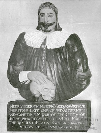 Memorial to Arthur Sherstone in All Saints Church, Weston 18 July 1953