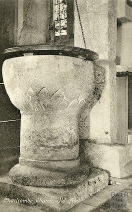 Charlcombe Church, font, c.1910s