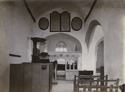 Interior of Great Chalfield Church, Wiltshire, c.1900