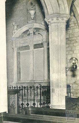 Interior of Holy Trinity Church, Newton St. Loe c.1920