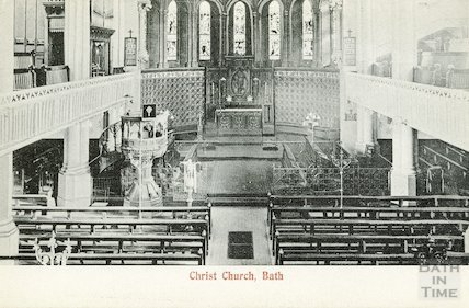 Interior of Christ Church, Julian Road, Bath