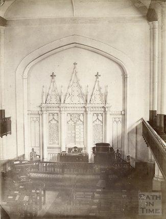 Interior of Christ Church, Bath c.1890