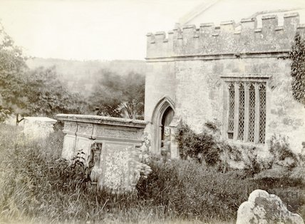 Englishcombe Church (part of south side) c.1890