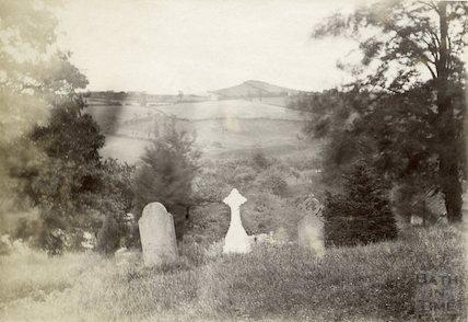 Twerton Roundhill from churchyard, Englishcombe c.1880