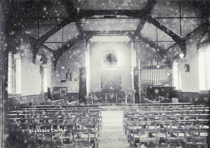 Interior of St. Barnabas Church, Twerton c.1920s