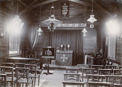 St. Barnabas Church, Twerton (temporary building interior) c.1880