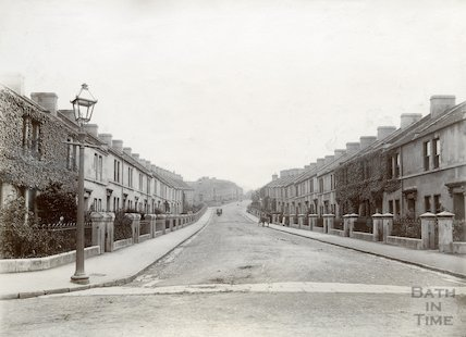 Looking up West Avenue, Oldfield Park c.1880