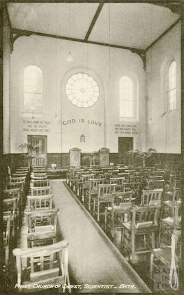 First Church of Christ Scientist, Charlotte Street, Bath (interior), c.1950s