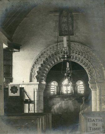 Interior of St. Mary Magdalene Church, Langridge 1897