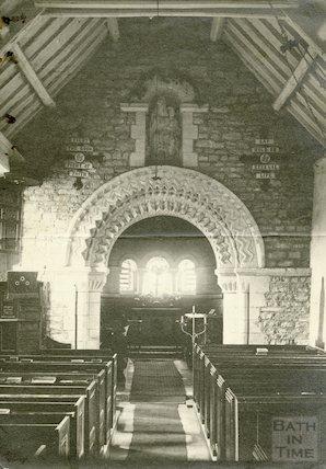 Interior of St. Mary Magdalene Church, Langridge c.1920