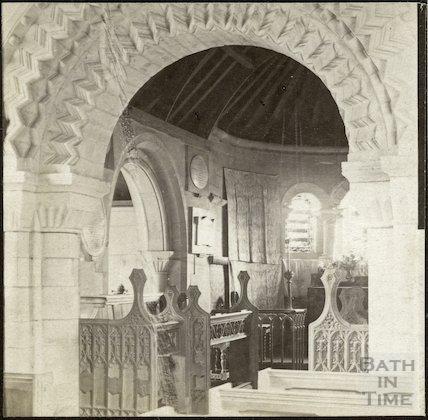 Interior of St. Mary Magdalene Church, Langridge c.1890