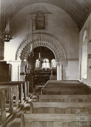 Interior of St. Mary Magdalene Church, Langridge c.1900