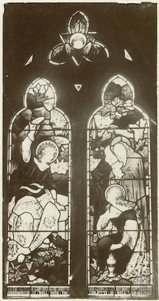 Stained glass window from the Church at Langridge c.1900
