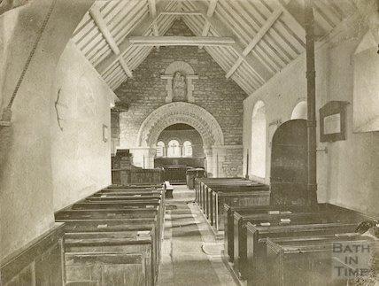 Interior of Langridge Church c.1910