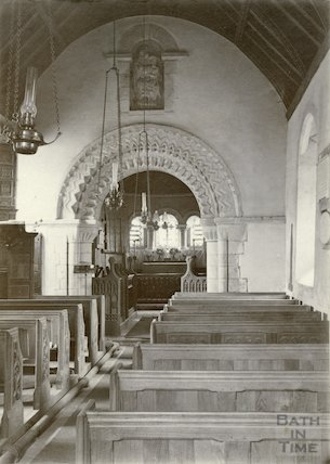 Interior of Langridge Church c.1910