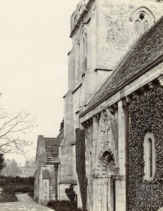 Lullington Church, North porch c.1900