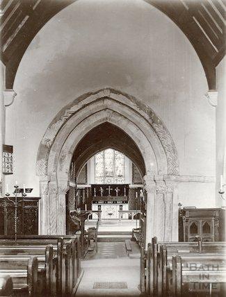 Lullington Church, interior c.1900