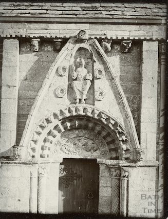 Lullington Church, Norman doorway c.1910