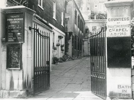 Entrance to the Countess of Huntingdon's Chapel, 28 June 1975