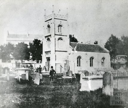 Bathwick Chapel and Burial Ground c.1849