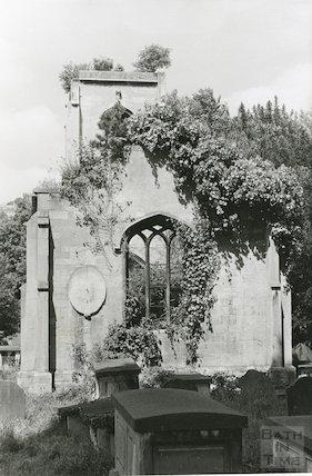 Ruin of Bathwick (Mortuary) Chapel March 1970