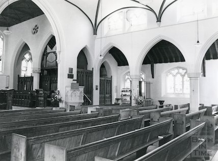 Interior of Holy Trinity Church, Combe Down 4 September 1980