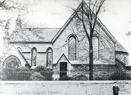 St. John's Church, Lower Weston (postmarked) 6 November 1907