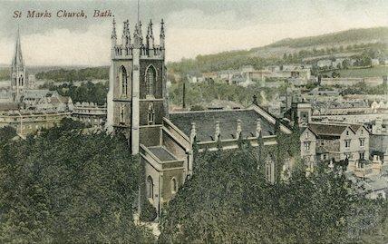 St. Marks Church, Lyncombe, Bath, c.1910