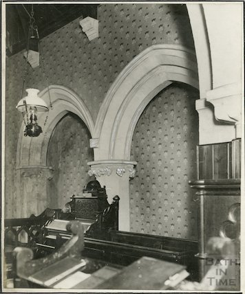 Interior of St. Margaret Church, Queen Charlton March 1929