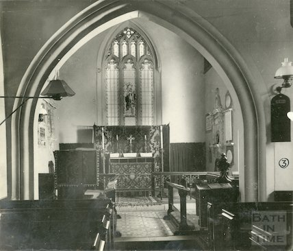 Interior of St. Peter's Church, Marksbury September 1928