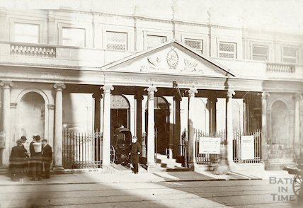 Kings and Queens Baths, view of Stall Street Entrance c.1890