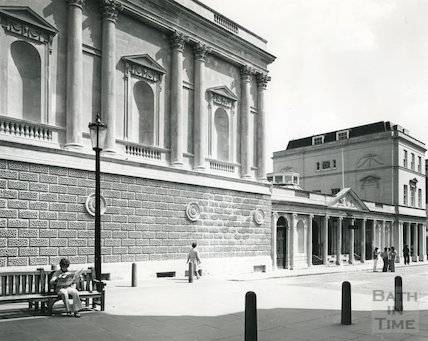 Kings and Queens Baths, view of Stall Street Entrance 1975/6