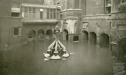King's Bath - view looking West c. 1912