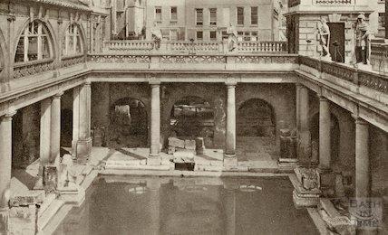 Roman Great Bath looking East, c.1930s?